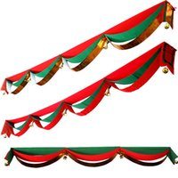 bell christmas ornament - 2M M M M Christmas Xmas Wave Flag Balls Jingle Bells Party Decoration Ornaments For Home Gotels Restaurants Party