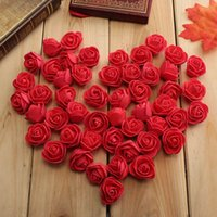 Wholesale 100pcs cm Mini PE Foam Artificial Rose Head Flowers For Wedding Car Decoration DIY Wreath Decorative Scrapbooking Fake Flowers