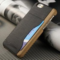 apple fiber card - Faddist Fiber Carbon Back Cover For iPhone s with Credit card holder on Back Case For iPhone S Hot sale