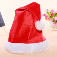 Wholesale 2016 Christmas Decoration Hats Santa s hat Best Price Christmas Hat Santa Claus Hats Lovely Christmas Cosplay Hats Product Code