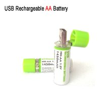 aa life - Brand new USB AA Rechargeable Battery V Toy Battery AA V MAH Nimh Battery MAH USB AA Long Life