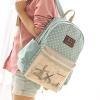 Wholesale New Fashion Canvas Backpack Children School Bags Female Women Children Schoolbag Nice Comfortable Backpacks for Teenagers Girls