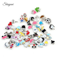 floating charms - Mix Style Alloy Floating Charm Heart Charm Footprint Charm Flower Charm for Living Memory Glass Locket Necklace Bracelet