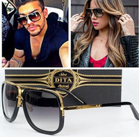 acrylic fashion sunglasses - 2016 New Dita Mach One Sunglasses Gradient Sunglasses with original box Men Women Brand Design Sun Glasses Vintage Retro Classic Oculos