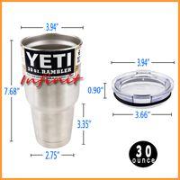 beer business - In business YETI RAMBLER TUMBLER oz Yeti Cups For Travel Vehicle Beer YETI Mug Tumblerful Bilayer Vacuum Insulated Free EUB