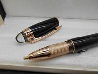 ball ink pen - Black M Roller Ball Pen rose gold Strip Trim Crystal Cap Metal Writing Ink Pen Free Pen Refills