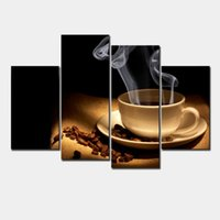 aroma pictures - Cup of Coffee Aroma panel Large HD Canvas Print for Living Room Wall Art Picture Photo Painting Artwork F