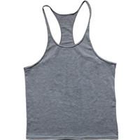 big dig - Big yards wide condole belt vest fitness clothing gym exercise training carter dig muscle cotton vest men M XXL