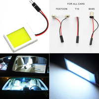 autos faw - auto led light indicator lamp SMD COB Chip LED Light T10 Festoon Dome Adapter Panel light