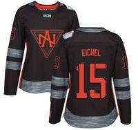 america custom - 2016 Premier Custom Jersey World Cup North America Womens Jerseys Jack Eichel Black Ice Hockey Jerseys Fast Shipping Embroidery Logos