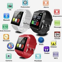 Wholesale 2016 Bluetooth Pphone USAGE U8 Smart Watch sport running Timing Wrist Watch available English Chinese Red White Black