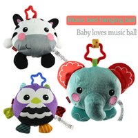 big music video - 2016 New Arriving Cute Music Ball Facial Animals Image Plush Toys For Baby