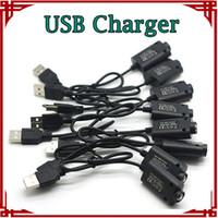 Wholesale Top Quality USB Charger Electronic Cigarette EGO Charger for ego E cig ego t ego w ego c Battery e cigarette V mA V USB Cable