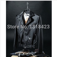 Wholesale Fall Jaquetas De Couro Couro Motorcycle Jackets Hot Sale New Fashion Winter Mens Leather Stayed Zipper Coats And Color M xxl