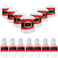 Cloth belt buckle supply - Christmas Decorations Christmas Belt Buckle Napkin Ring New Christmas Belt Deduction Napkins Sets Of Creative Supplies