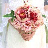 Wholesale Only Cheap Charming Country Wedding Bridal Bouquet Artificial Flowers for Bride Bridesmaid High Quality
