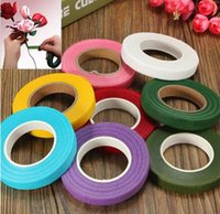 Wholesale New Florist Tape Colors Floristry Floral Stem Tape mm Colourful Corsages Craft For Wedding Party Decor DIY Paper Rose Tool