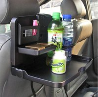Wholesale Car Dining Table Drink Cup Holder Universal Travel Dining Tray Folding Cup Holder Food Meal Desk Car Styling car accessories H210756
