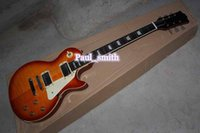 best classical strings - New solid G logo Electric guitar modern custom shop high quality best selling cool orange classical gold headcase