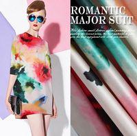 Wholesale Width cm Real Silk Satin Fabrics Ladies Pure Satin Silk Fabrics Sewing Shirt Skirts pants dress and nightgown