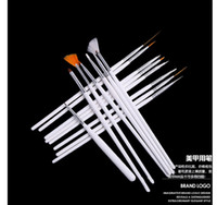 Wholesale 15 Nail Art Decorations Brush Set Tools Professional Painting Pen for False Nail Tips UV Nail Gel Polish