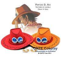 ace sun - Japan Anime One Piece Cosplay Costumes Props Portgas D Ace Cowboy Hats Men Fashion Sun Jazz Cap