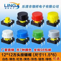 Wholesale x12 round button cap Tact Switch square head key switch
