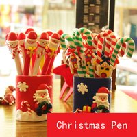 advertisement pens - The new Christmas polymer clay Stick pen Christmas items children gifts advertisement pen ball point pen promotional pens gifts B0756