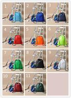army stuff - Pure color backpack dry storage bags Draw string bag Cycling backpack Sports backpack drawstring bags shoes stuff sacks can be customized
