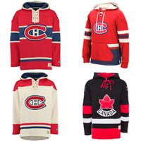 anti ups - Cheap New Custom Montreal Canadiens Men s Hockey Pullover Hoodie Custom Women s Lace Up Slim Fit Hoodie Kids Hockey Jersey Sweater