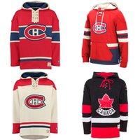 achat en gros de canadiens hockey jersey for kids-Hockey Sweat à capuche pour femmes personnalisés à lacets Slim Fit Hoodie Enfants Hockey Jersey Pull pas cher New personnalisés Montreal Canadiens Hommes