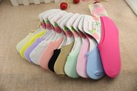 Wholesale 120 Cotton Socks Lovely Candy Colour Short Ladies Socks Ladies Women Invisible Cotton Rich Short Boat Socks WL0920