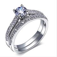 2016 Bridal Anneaux de mariage mis 925 cadeaux Sterling Silver Party Ring Ring doigt Bijoux Vintage Femme Mode Anneaux de mariage