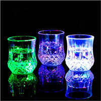 Wholesale 7 OZ Water Activated Color Change Flash Glowing LED Flashing Glowing Water Liquid Activated Light up Wine Glass Cup Mug