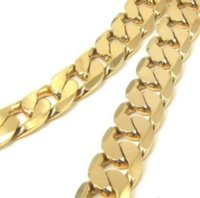 Wholesale Chunky K Gold Filled Men s Necklace Solid Curb Link Chain CM Inches ccl