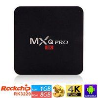 Wholesale MXQ Pro Android TV Box RK3229 Amlogic S905 Quad Core Android5 G HDMI K Kodi Full loaded add ons