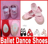 Wholesale Professional Ballet pointe Dance Shoes for Girls Boys and Adult Ladies with ribbons shoes Soft Comfortable Size