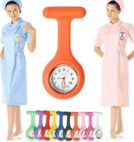 Los mejores relojes de bolsillo médicos del reloj del doctor del reloj de la enfermera del silicón de la manera de la calidad 10colors venden al por mayor de la fuente 1000pcs / lot