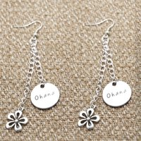 american meaning - 10pairs Ohana Means Family earrings Inspired by Lilo Stitch Silver crystals for women or girls earrings