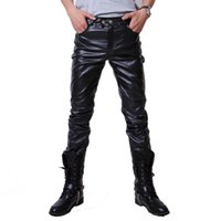 Wholesale 2016 fashion Mens Skinny PU Leather Pants Casual hip hop rock Men Trousers Motorcycle Pant pantalones homme myb0053