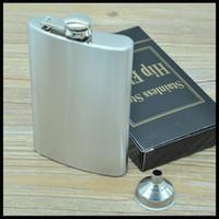 alcohol bottle sizes - Large size Pocket Hip Flasks with mini funnel Liquor Alcohol wine Whisky Pocket Flagons bottle wine pots Drinkware wine sets