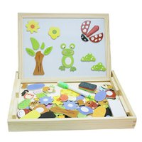 Wholesale Wooden educational toy child toy double sided drawing board
