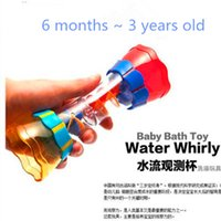 Wholesale 2016 Children play in the water baby bath toy scoop water swimming beach rotating cylinder flow observation Cup