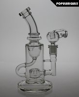 big bends - 9 quot Tall FC Klein bongs FC water Torus bong FC recycler oil rigs glass water pipes bongs joint size mm big version FC Klein