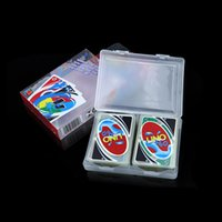 Wholesale Board Games Waterproof Clear PVC UNO Poker Card Number for Family Fun Party Funny Card Games Christmas Gift