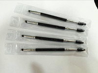 Wholesale Makeup Eye Brow Eyebrow Brush Synthetic Duo Makeup Brushes Double Eyebrow Brush Head Brushes Kit Pinceis DHL