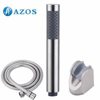 Wholesale Bathroom Handheld Shower Head with Extra Long Hose and Bracket Holder Brushed Stainless Steel Bathroom Accessories HHS005 F