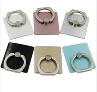 attached rings - Creative paste type phone ring holder ring holder attached to a metal ring rotating buckle plastic panel Cell Phone Mounts B0015