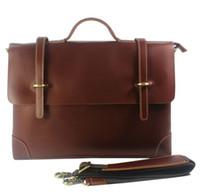 attache case women - Real Leather Men briefcase portfolio men genuine leather briefcase handbag business bag laptop bag office attache case document