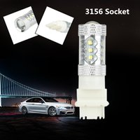 Wholesale 16 SMD CREE LED Car Fog Light Turn Signal Brake Tail Light Lamp Bulb Replacement for Socket White LM